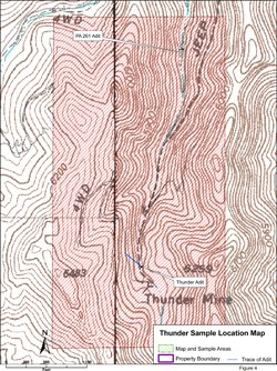 Thunder Sample Location Map - Figure 4